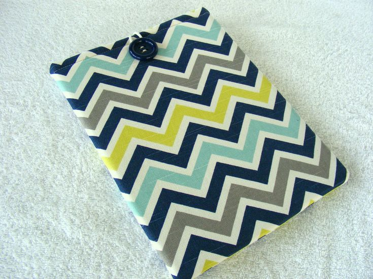 """IPad Pro 9 Case, Samsung Galaxy Tab2 Case, Nook HD Case, IPad Cover, Multi-Color Chevron Print, Tablet Cover, IPad Pro 9 Cover, 10"""" x 8"""" by LindaLeasBoutique on Etsy"""