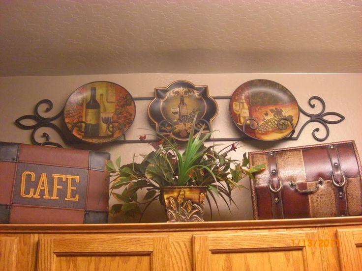 Pinterest above cabinet decor ideas