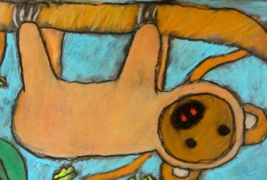 Sloth art project - photo#44
