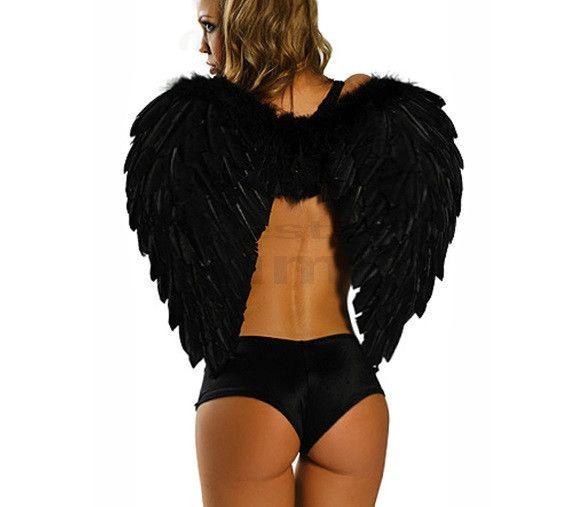 Skrzydła anioła 80x55cm czarne na imprezę | Przebrania | Upominki24.com