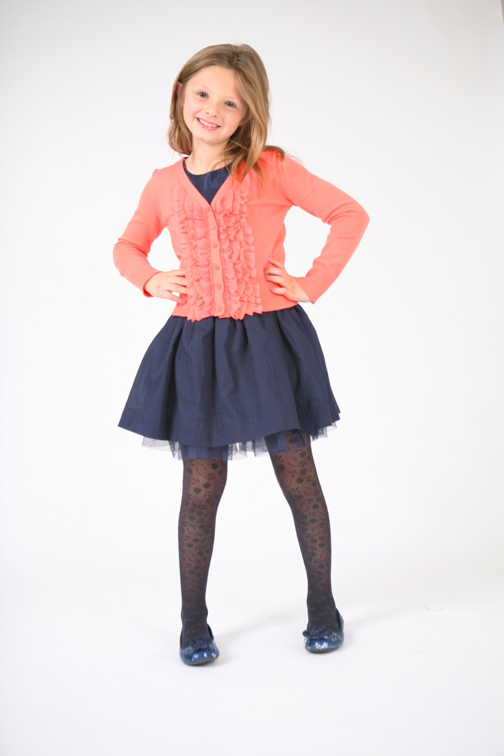 kids in tights Little Silkies Blossom Tights