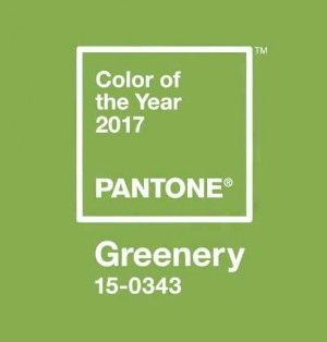 Pantone Color of the Year 2017 GREENERY.