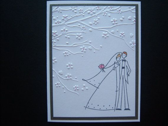 Under the Cherry Blossoms Wedding Card by TijaCreations on Etsy, $1.75