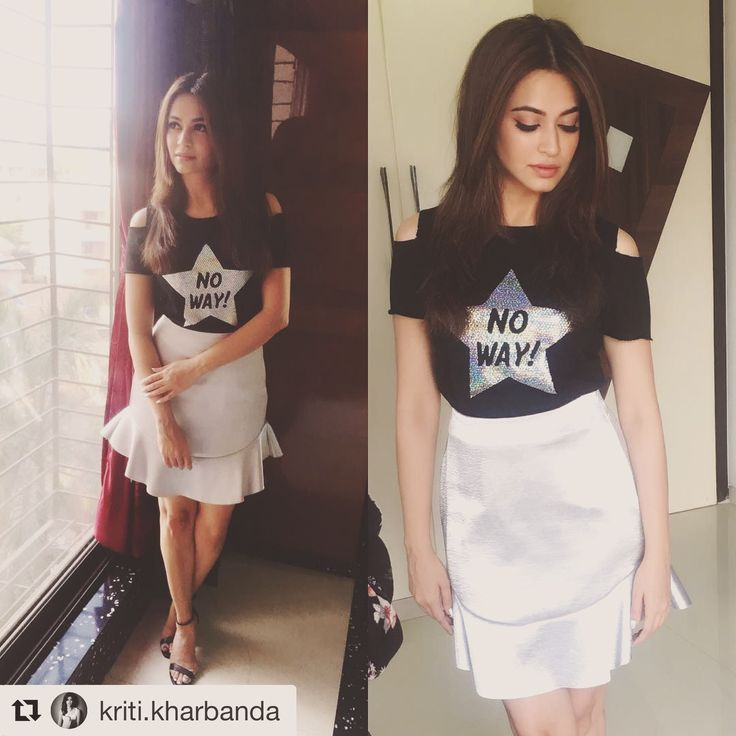 How I adore working with her! ❤️ #Repost @kriti.kharbanda (@get_repost) ・・・ Fun start to promotions!  Top- @onlyindia  Skirt- @hm  Shoes- @stevemadden  Accessories- @missflurrty  Styled by @anishagandhi3 and @rochelledsa ❤️❤️ Makeup @13kavitadas hair by @poonam.solanki.522 !! #guestiinlondon #noway #promotionready