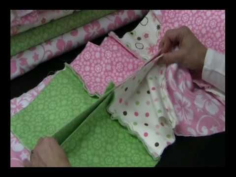 Nice video on how to construct a rag quilt