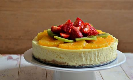 Classic Cheesecake with Fresh Fruit - Kosher Recipes & Cooking