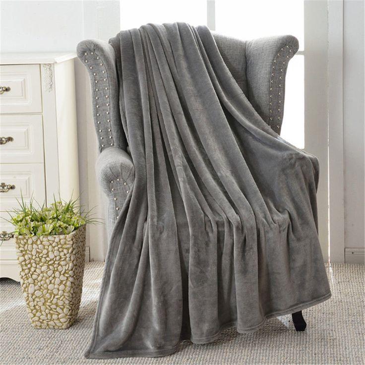Super Soft Long Flannel Fleece Chic Fuzzy Warm Elegant Fluffy Sofa Throw Blanket #vanderlife