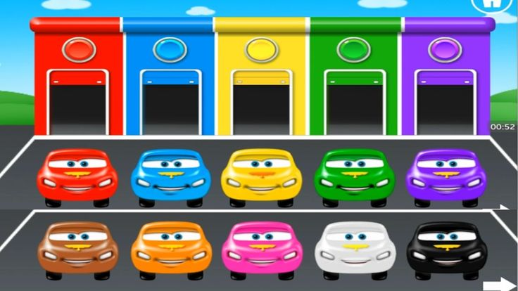 Games For Kids- Learn Color With Mc Queen Car   Baby learn Color With Fu...