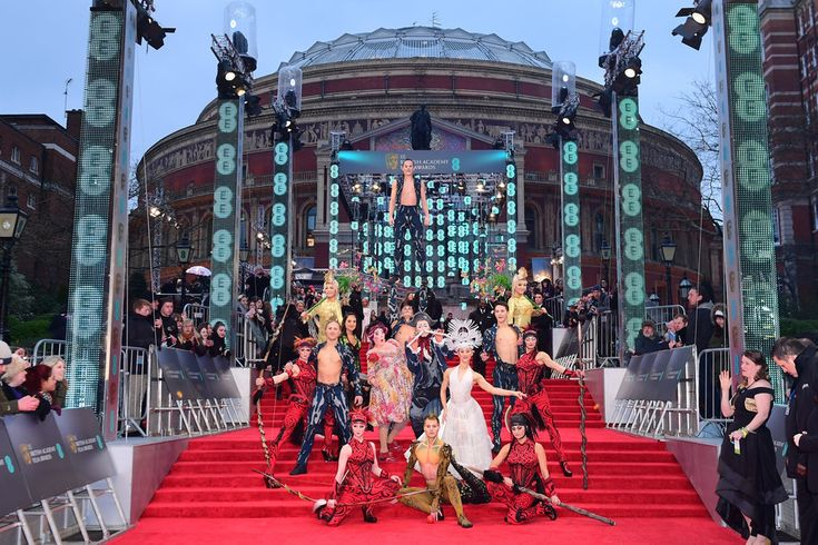 (Ian West/PA Wire) Baftas 2017 Red Carpet: London England Feb 12- Cirque du Soleil performing on the red carpet
