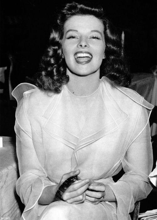 Katharine Hepburn en el set de 'Historias de Filadelfia', dirigida por George Cukor (1940)