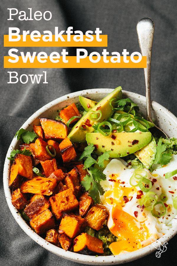 Paleo Breakfast Sweet Potato Bowl