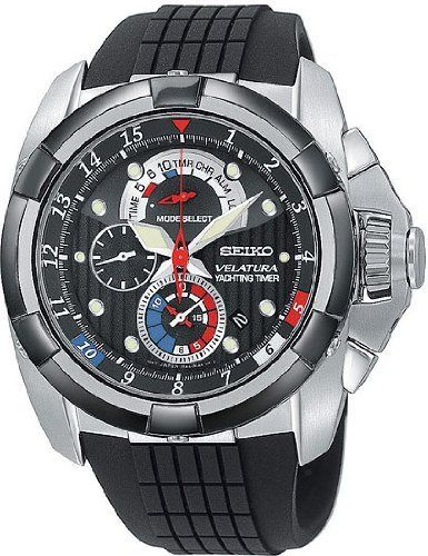 Seiko Men's Watches Velatura SPC007 - 2 Seiko. $365.00. Case Diameter - 43 MM. Seiko Velatura Yachting Timer Collection