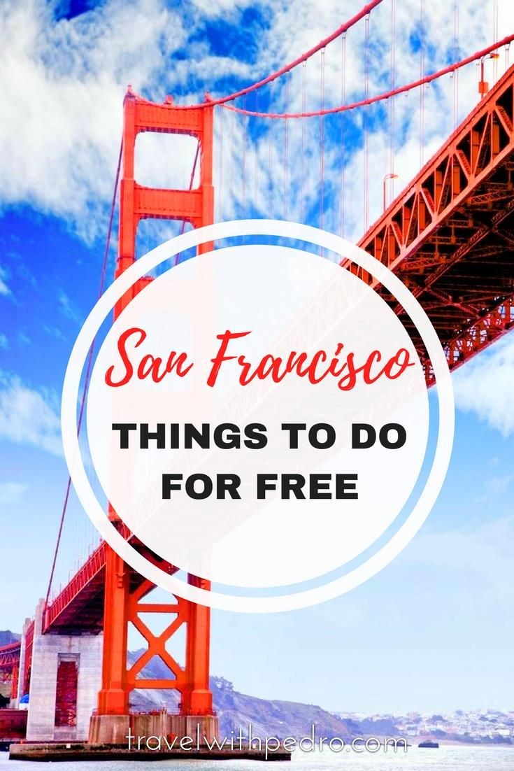 A selection of the best things to do in San Francisco for free, with some classic spots and other less known places.