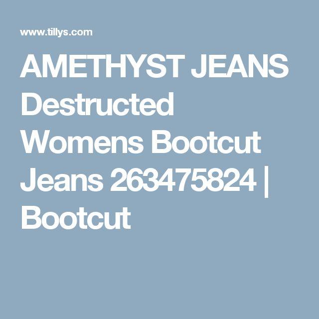 AMETHYST JEANS Destructed Womens Bootcut Jeans 263475824 | Bootcut