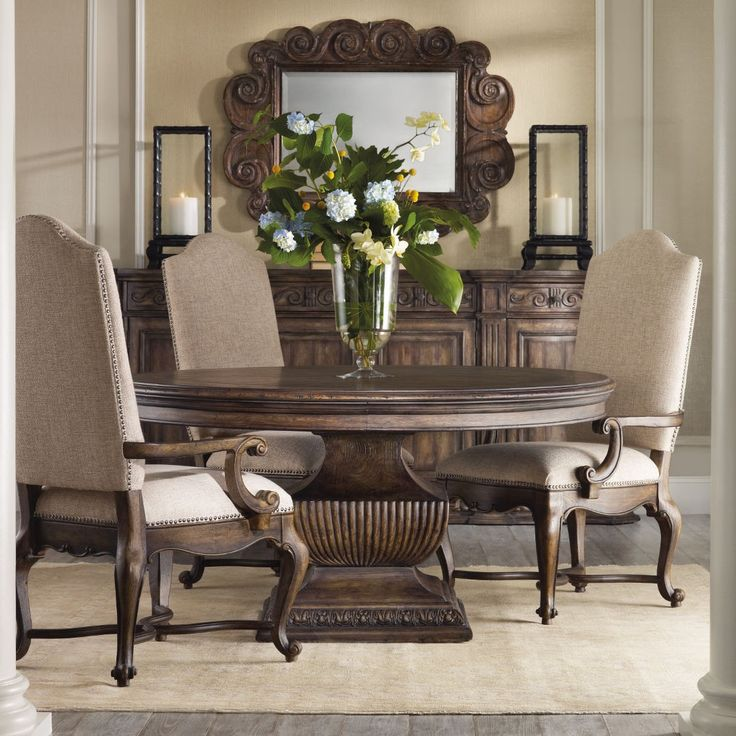 35 best round dining tables sets images on pinterest for Formal dining room sets round table