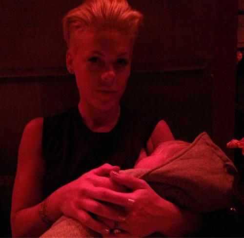 Carey Hart Shares New Pic Of Pink Breastfeeding