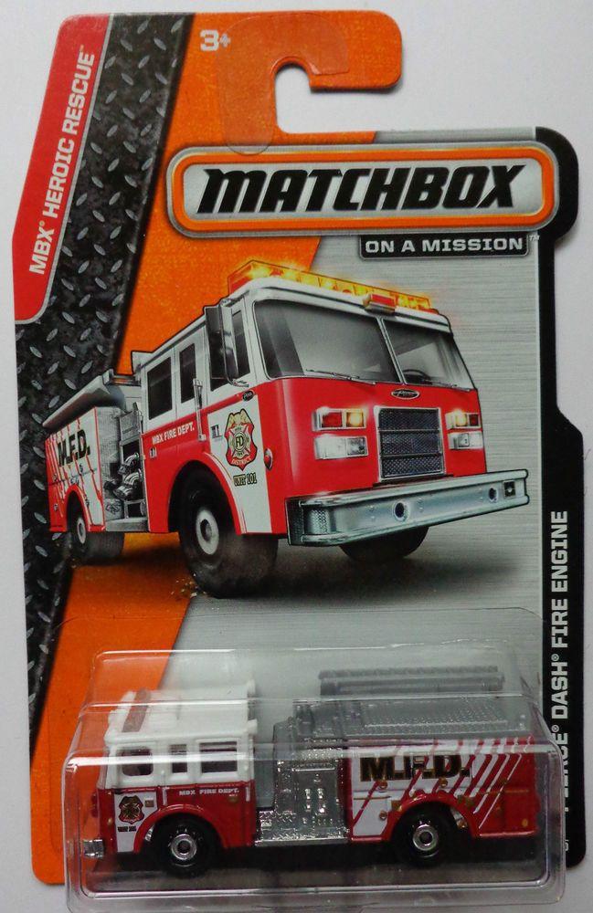Matchbox 2014 Mbx Heroic Rescue Pierce Dash Fire Engine 79