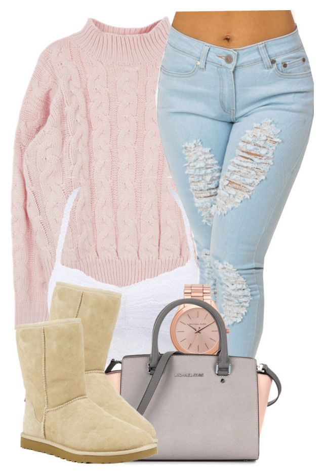 2|2|16 by miizz-starburst on Polyvore featuring polyvore fashion style Charlotte Russe UGG Australia Michael Kors women's clothing women's fashion women female woman misses juniors