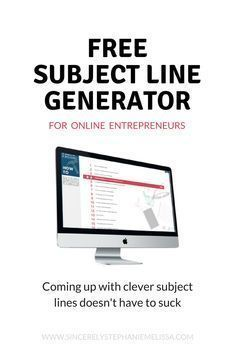 Write better subject Write better subject for your email marketing with this free tool. Headline generator | content marketing | digital marketing | #emailmarketing #contentmarketing #entrepreneur #bossbabe blogging tips for beginners blogging tips and tricks wordpress blogging tips lifestyle blogging tips blogging tips ideas blogging tips writing blogging tips blogger blogging tips group board photography blogging tips fashion blogging tips blogging tips & tools blogging tips instagram…