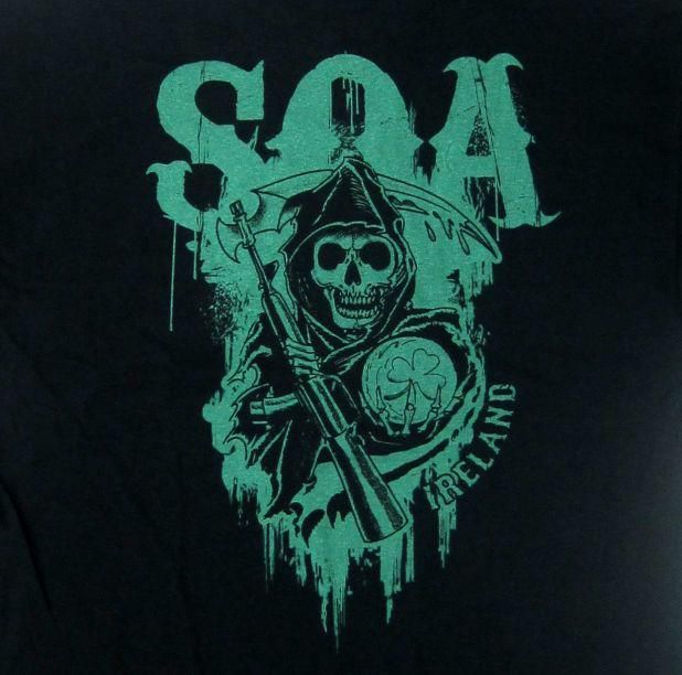 Sons of Anarchy Ireland t-shirt. Special Edition. For SOA fans!