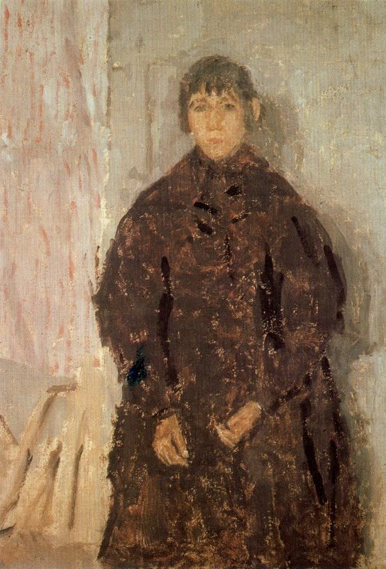 Girl in a Mulberry Dress by Gwen John, (British 1876-1939)