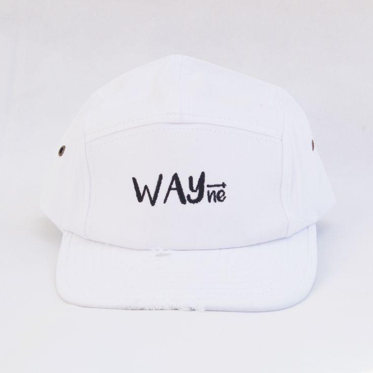WAYne custom-distressed unisex hat