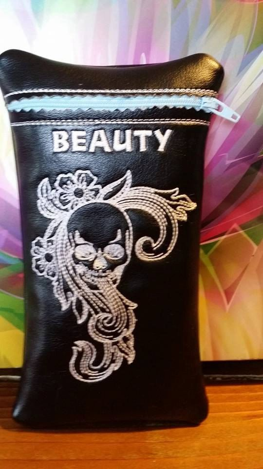 Beauty custom glass pipe pouch by RedNeckRagsCreations on Etsy