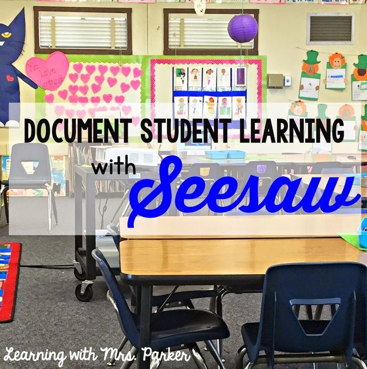 Learning With Mrs. Parker: Document Student Learning with #SeesawEdu