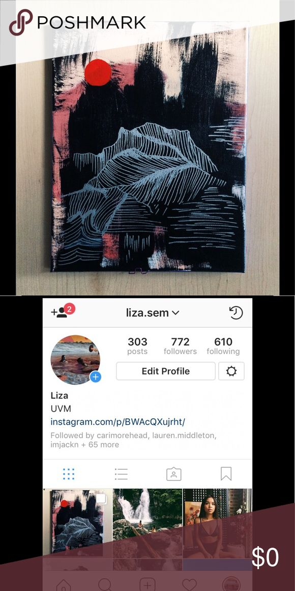 30% DISCOUNT IF YOU LIKE A PHOTO- PLEASE READ Hey, what's up Poshers! I've entered an art contest and need your help to win! All you have to do is search my instagram @liza.sem (or click on about me) and click the link in the bio and like the photo that I painted. If I win, the money will go towards helping my single mother pay for my tuition. Thank you guys so much, this means the world to me! 😊. If you have liked my photo, put a ❤️ on the item of your choice from my closet and your…