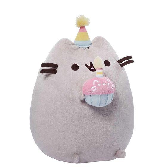 "GUND Pusheen Happy Birthday Plush, 10.5"" x 5"" x 7"": Toys & Games"