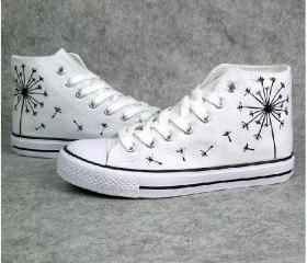 Hand-Painted Canvas Shoes