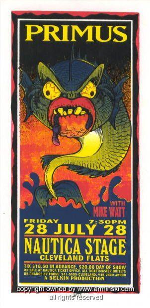 1995 Primus w/ Mike Watt Concert Handbill by Arminski (MA-045)