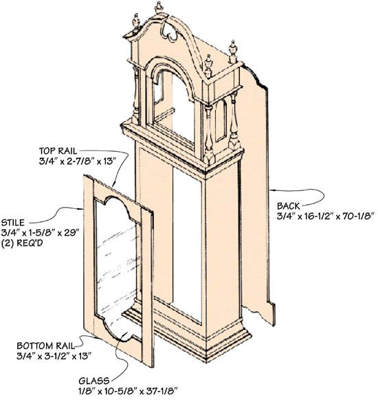 23 best images about grandfather clock on pinterest antique brass arts crafts and clock - Grandfather clock blueprints ...