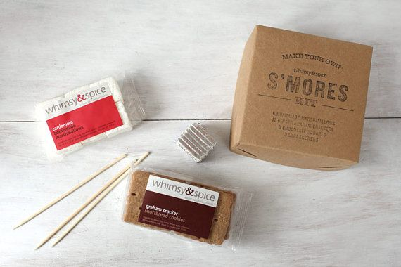 S'mores Kit with house-made graham crackers and by whimsyandspice