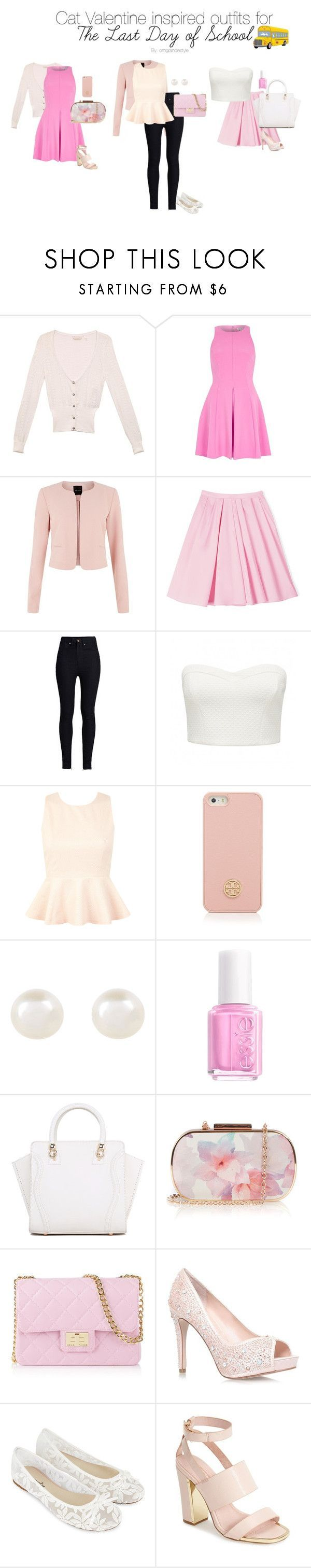 """Cat Valentine inspired outfits for The Last Day of School"" by dashinggrande :heart: liked on Polyvore featuring GUESS, River Island, Carven, Rodarte, Forever New, Miss Selfridge, Tory Burch, Accessorize, Essie and Oasis"