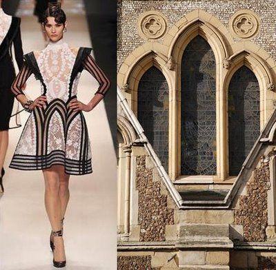 Contrastidea - architecture vs. fashion      Gaultier's Sacred Script ~ Trend de la Creme