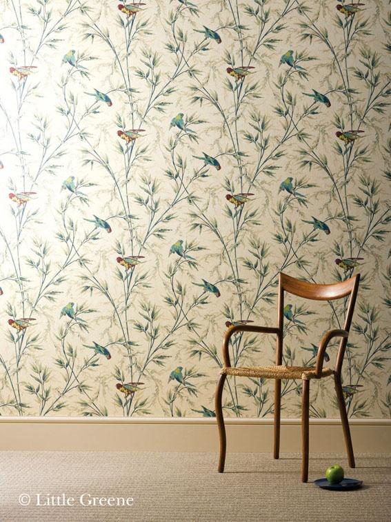 Great Ormond Street wallpaper - parchment.