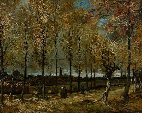 Vincent van Gogh / Poplars near Nuenen / 1885