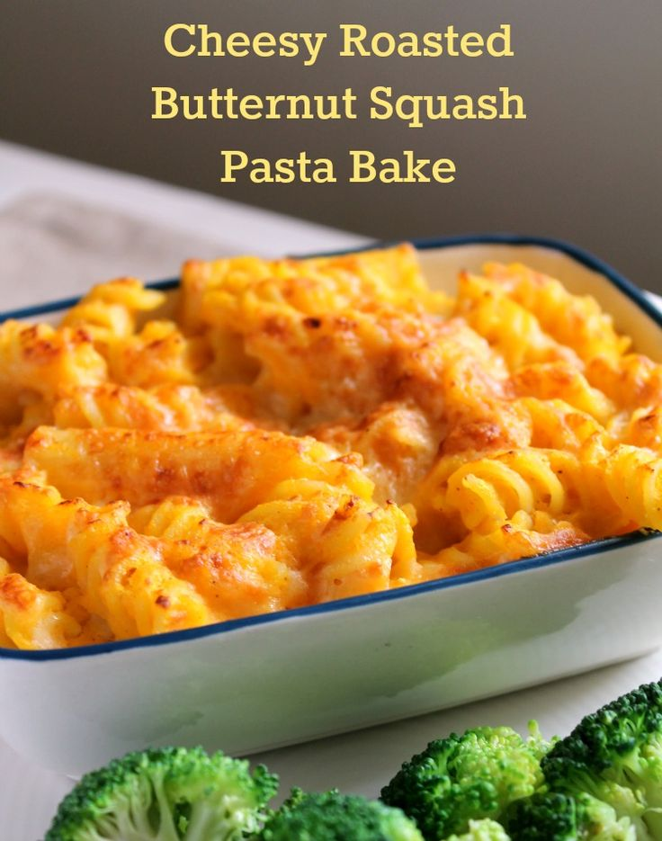 cheesy roasted squash pasta bake