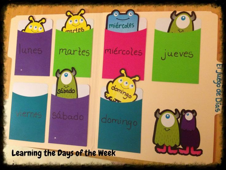 Debbie's Spanish Learning - Days of the week game (would work with numbers too)