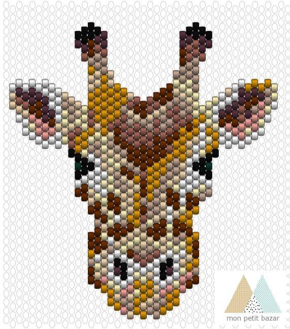 Tutoriels Collier Edith la girafe en perles miyuki par Mon petit b - Perles & Co