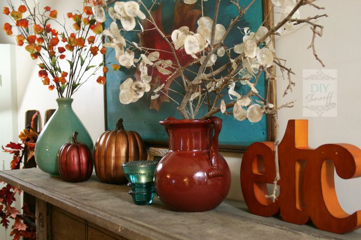 40 delightful diy fall mantel decoration ideas - Autumn Warmth Red And Turquoise Fall Mantel F 228 Rger Och