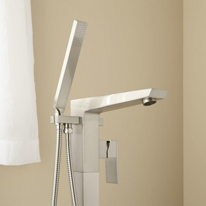 Cybelle Freestanding Tub Faucet with Hand Shower - Chrome