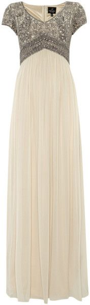 Adrianna Papell Beaded Top Empire Waist Dress Oh my gosh, I wish I had somewhere to wear that dress!