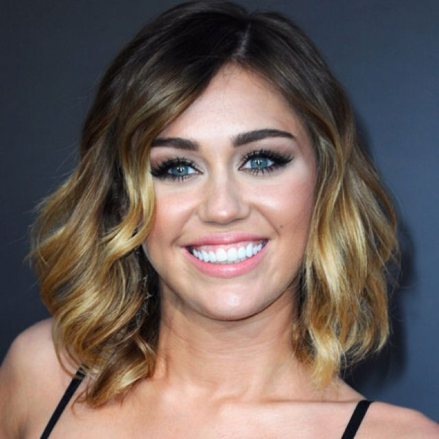 miley cyrus shoulder length bob with ombre hair love