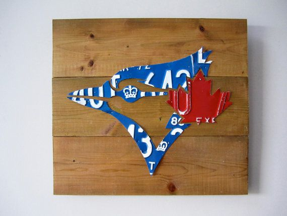 Toronto Blue Jays License Plate Logo  Unique Handmade by Route401, $89.00