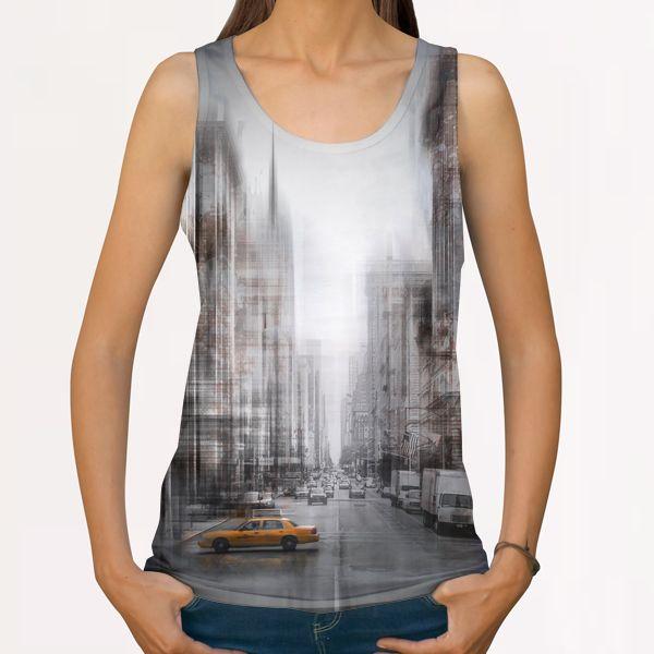 City-Art NYC 5th Avenue All Over Print Tanks by Melanie Viola