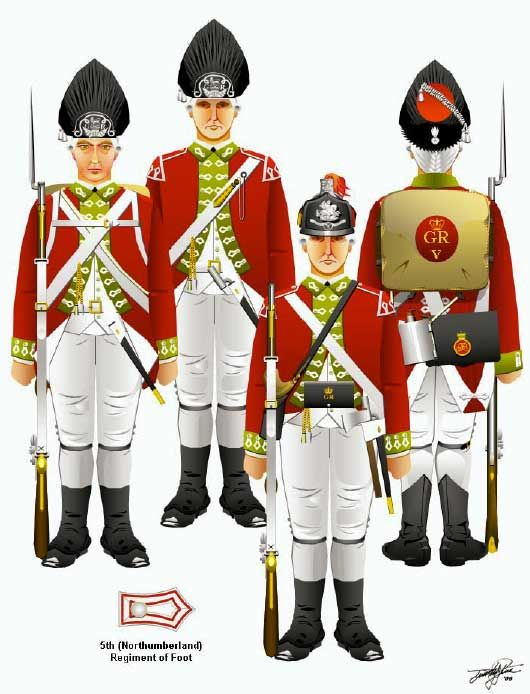 The American Revolution - The British 5th Regiment of Foot ...