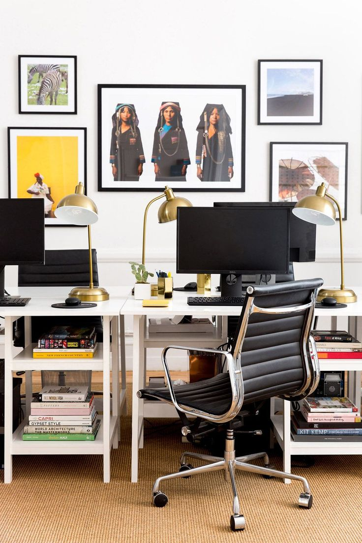 This Cozy Office Gives MAJOR Small-Space Inspiration+#refinery29