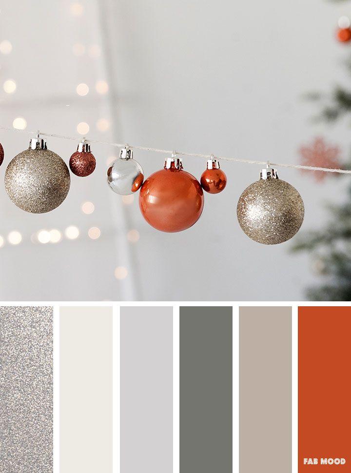 Copper and silver winter color inspiration   winter color palette #winter #copper #colorpalette